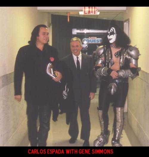 Carlos Espada with Gene Simmons